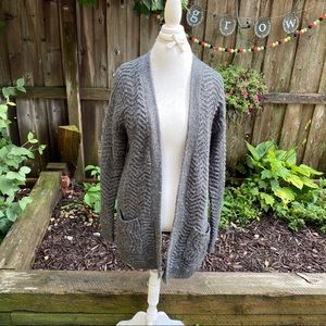 Mossimo Supply Co. Sweaters - Mossimo grey chevon long open front cardigan XL